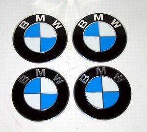 BMW E30 4 x original 70mm Embleme für Kreuzspeichen Deckel selbstklebend 1181079