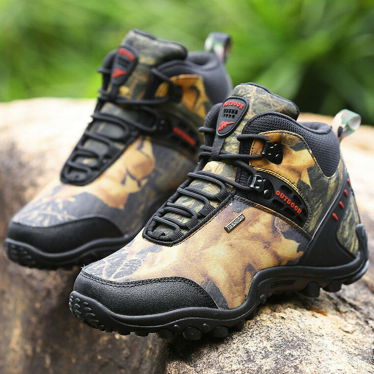 Mens Real Leather Waterproof Outdoor Hiking Running Sports Sneakers Shoes D828