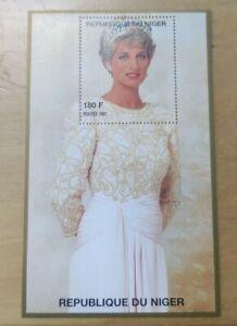 #10 1997 Princess of Wales Lady Diana Miniature Stamp MNH Niger