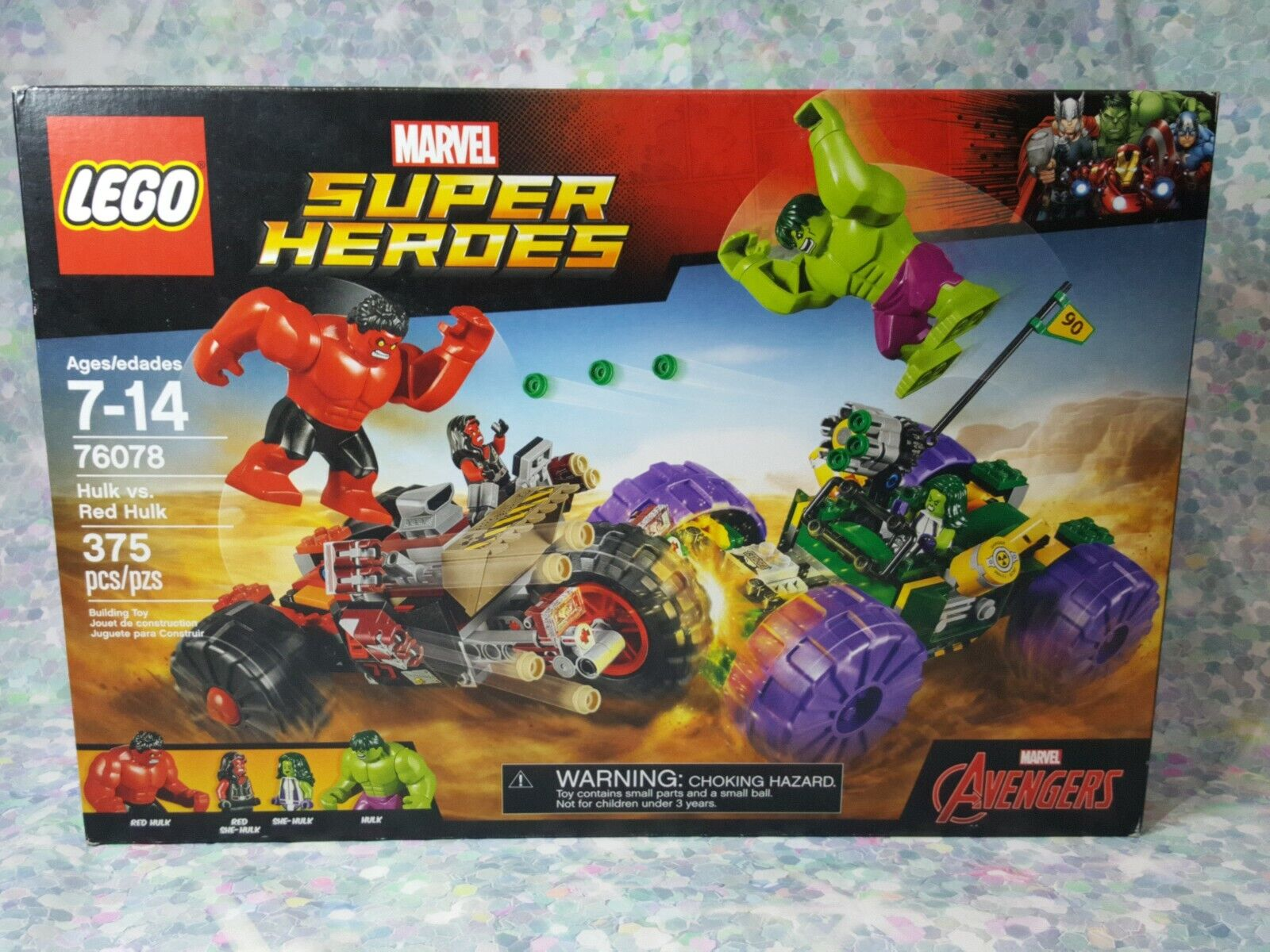 Red Hulk NO MINI FIGS // BOX LEGO 76078 Avengers Hulk vs Super Heroes