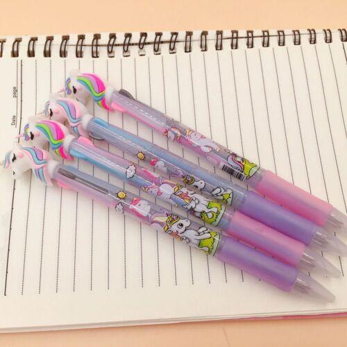 Pink Unicorn 3 in 1 Ballpoint Pen Ball Point Pens Kids School Office Supply c