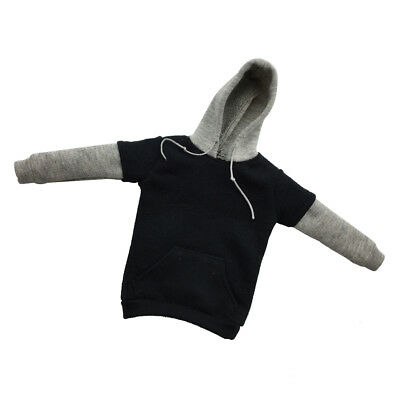 1:6 Scale Action Figure Top Clothes Gray Zip Up Hoodie Street Style Hoodies