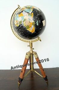 Vintage antique style world map globe 12 nautical with adjustable image is loading vintage antique style world map globe 12 034 gumiabroncs Gallery