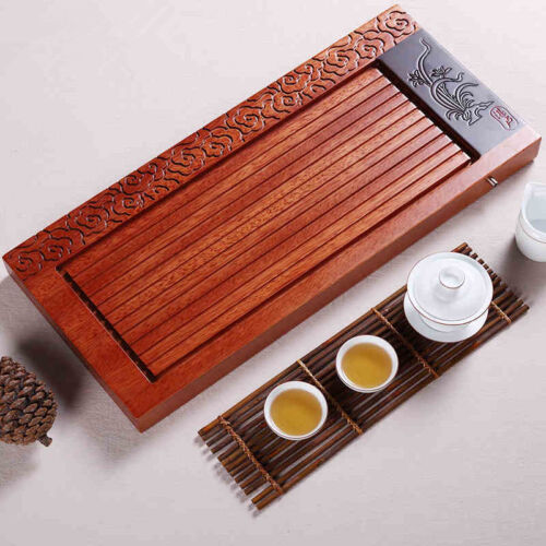 hand carved tea tray rosewood tea table orchid water draining tea board on sales