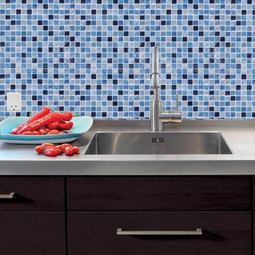 Self-adhesive 3D Wall Tile Stickers Kitchen Bathroom Waterproof Mosaic Transfers