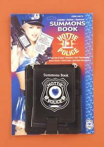 FORUM-HOTTIE-POLICE-GEM-DECORATED-SUMMONS-BOOK-ADULT-COSTUME-ACCESSORY-60174