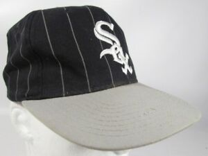 Image is loading Chicago-White-Sox-Hat-Vintage-Starter-Pinstripe-MLB- b4f9df4366a
