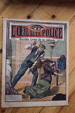 Rarissime L' OEIL DE LA POLICE 2A/31 Horrible Crime de la Jalousie