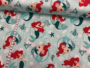 Baumwollstoff-Arielle-die-Meerjungfrau-Disney