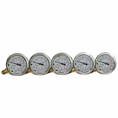 """XZT Low hydraulic Pressure gauge 2.4/"""" 15PSI to 90PSI BSP1//4/"""" Base Entry"""
