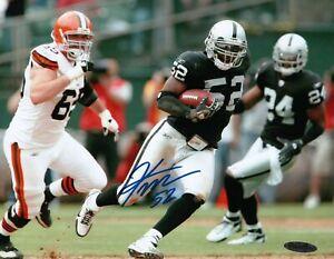 Kirk-Morrison-Signed-8X10-Photo-Autograph-Raiders-vs-Browns-Auto-UDA-Upper-Deck