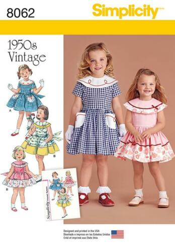 SIMPLICITY SEWING PATTERN CHILD'S & GIRL'S DRESSES & BOLERO SIZES 3 14 8062