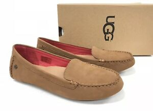 UGG-Australia-Milana-II-Driver-Loafers-Chestnut-1098209W-Suede-Leather-Flats