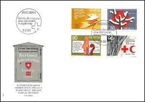 FDC-Suisse-Timbres-poste-speciaux-9-9-1986