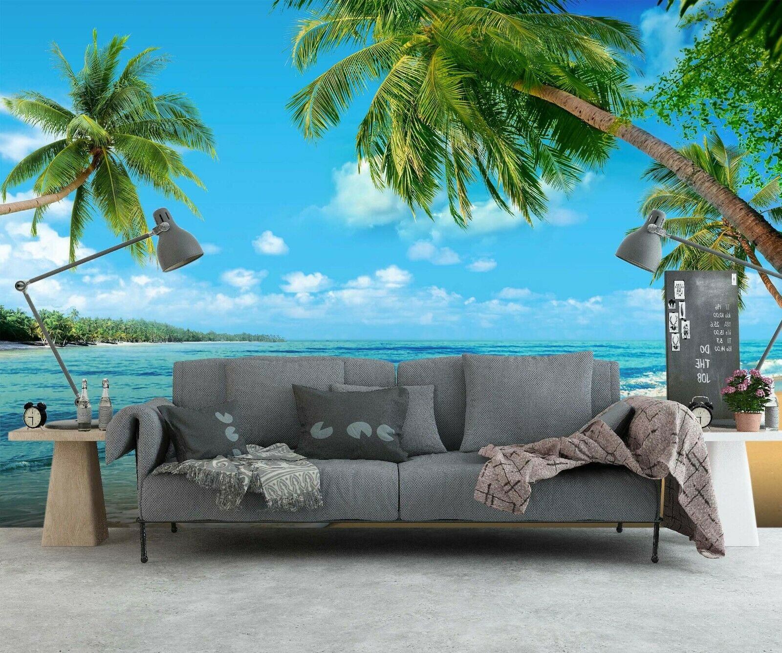 3D Parlor Beach Waves R667 Wallpaper Wall Mural Self-adhesive Commerce Amy