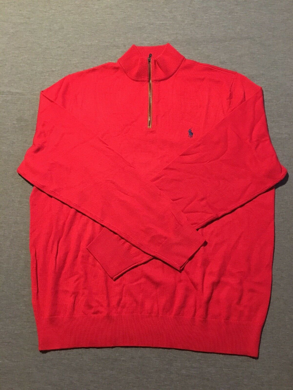 New Without Tags Large Red 1 2 Zip Sweater By Polo By Ralph Lauren