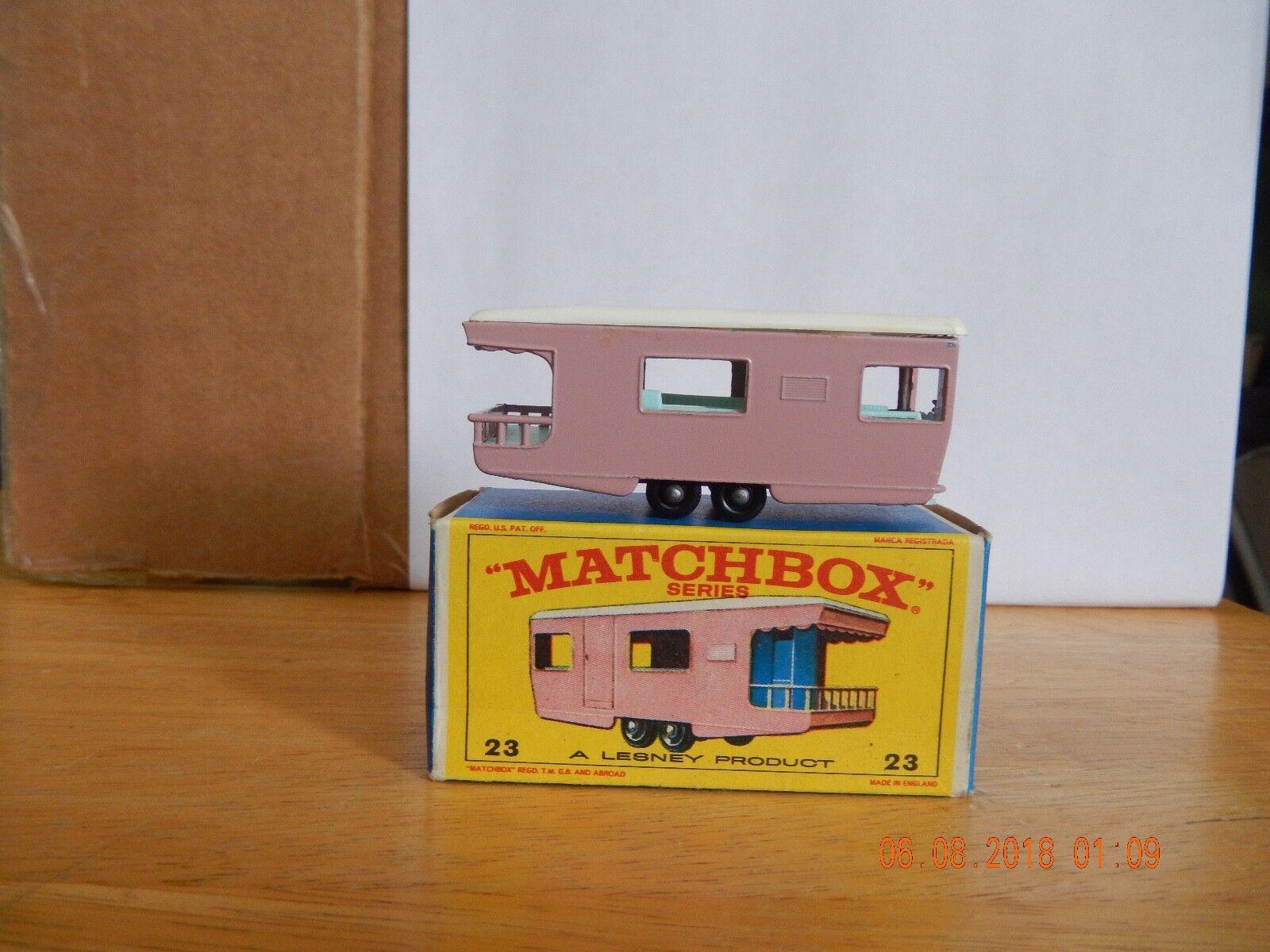 Vintage Lesney Matchbox remolque Caravan