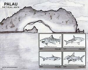 PréVenant Palau 2019 Neuf Sans Charnière Requins Natural Arch Hammerhead Shark 4 V M/s Animaux Marins Timbres-afficher Le Titre D'origine Construction Robuste