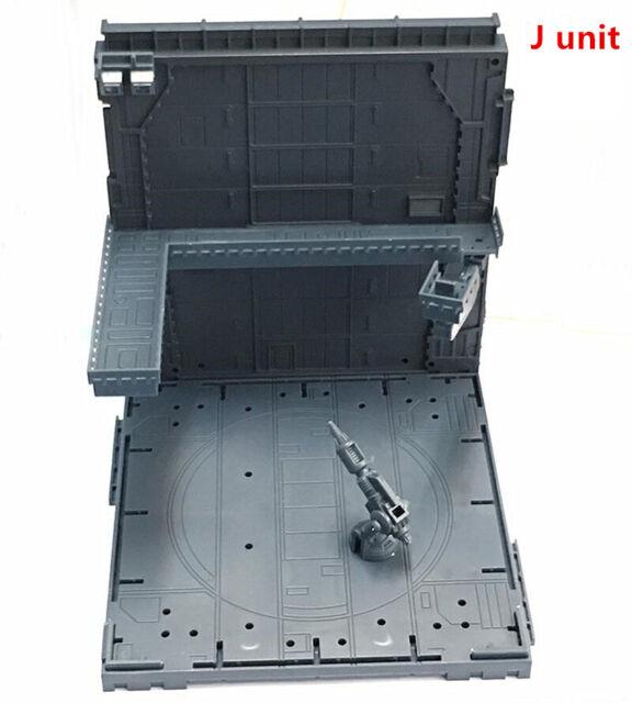 CG Hangar Garage Frontline Base Scene J Unit for Bandai Gundam Combination