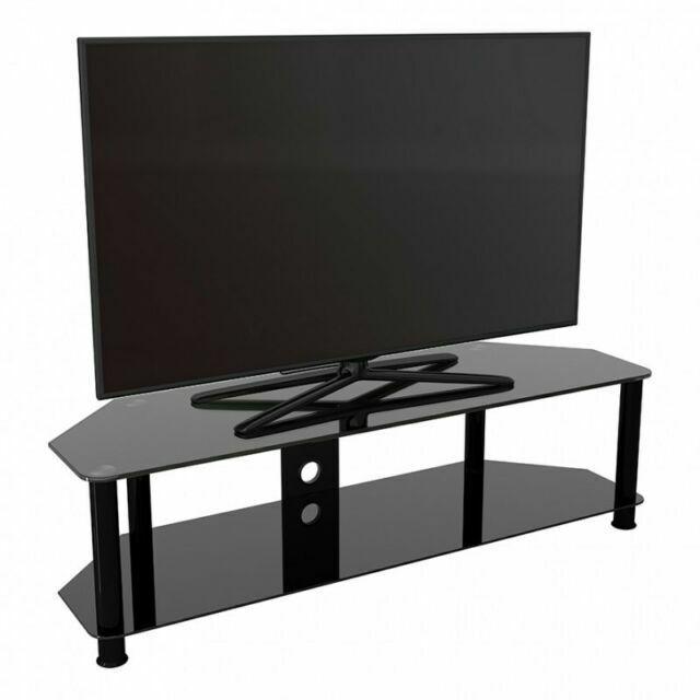 King Kst140bbcm 140cm Glass Tv Stand For Upto 65 Inch Tv Black For Sale Online Ebay
