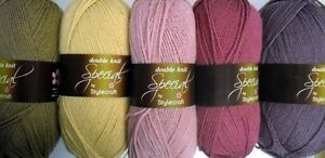 Purple 2 X 200g Rolls Colour Changing Dk Knitting Yarn Color 9 Pinks