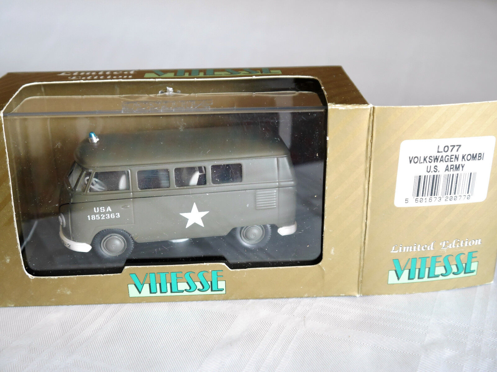 Vw tipo 2 bus US Army estados unidos unidos unidos 1852363 ID-X hq-2 military Olive, Vitesse en 1 43 Boxed 14d198