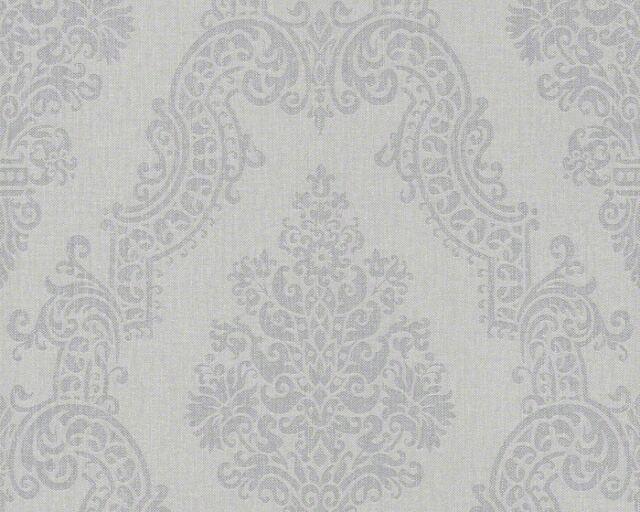 AS Creation Elegance II Vlies Tapete 93677-3 grau Floral Barock Textil Struktur