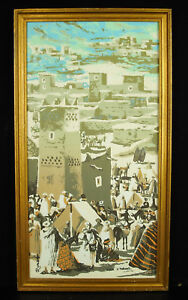 Roman Aquarelle Originale Souk D'imilchil Haut Atlas Tifinagh Aït Hdiddou Najavajd-10103248-245446128