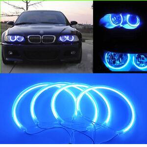 New-12V-Blue-CCFL-Angel-Eye-Halo-Rings-Light-For-BMW-E46-E46-3-Series