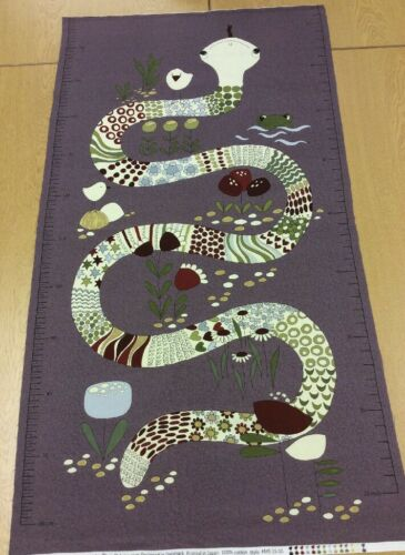 100/% Cotton Fabric Unusual Height Chart Panel The Snake and I Panel Stof