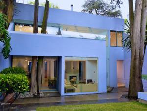 Preciosa Casa minimalista tipo Barragán en venta Chimalistac