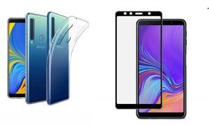 Cover-per-SAMSUNG-Galaxy-A9-2018-CUSTODIA-cover-GEL-PELLICOLA-vetro-FULL-SCREEN