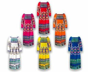 NEW-Women-Mariachi-Dress-Traditional-Mexican-Dress-Ruffles-6-Colors-One-Size