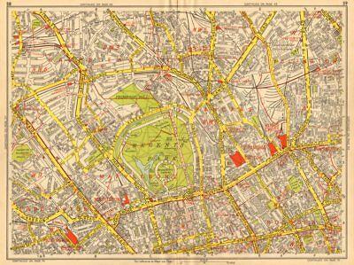 Marylebone Islington St John's Wood Bloomsbury Camden Geographers' A-z 1948 Map Be Shrewd In Money Matters Art