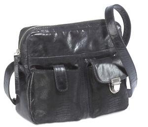 Bodenschatz-Modena-Umhaengetasche-schwarz-Handtasche-Reissverschlusstasche