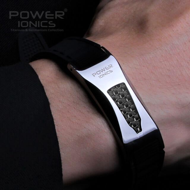 Power Ionics 3000ions Titanium F.I.R Carbon Fiber Bio Bracelet Wristband Balance