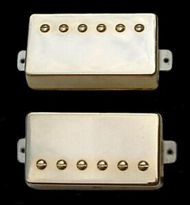 Guitar-Parts-GUITARHEADS-PICKUPS-ALNICO-SUPREME-PAF-HUMBUCKER-SET-2-GOLD