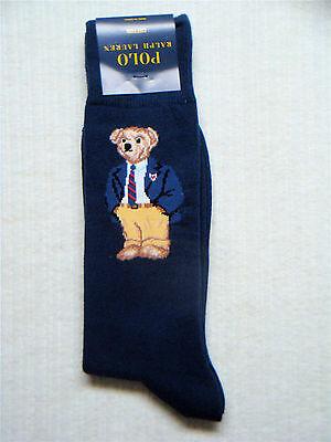 POLO Ralph Lauren - Men's Limited Edition TEDDY BEAR Cotton Socks - NAVY BLUE
