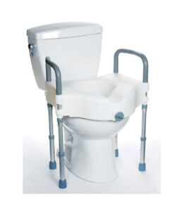 Remarkable Details About Mobb Elevated Raised Toilet Seat With Arms And Leg Supports Dailytribune Chair Design For Home Dailytribuneorg
