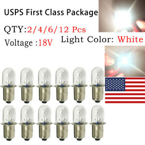 6 x For RYOBI ONE 18V Flashlight Replacement Xenon Bulb XPR18 P700 P703 P704