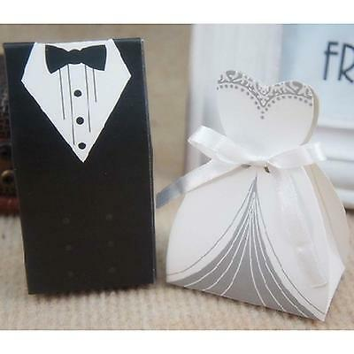 Unique Wedding Bridal Party Favour Tuxedo Dresses Shape Mini Gift Candy Box Case