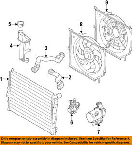 Bmw Oem 07 10 X3 Radiator 17113415693 Ebay