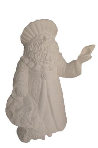 "Ready to Paint Seashell Santa 10/"" Ceramic Bisque"