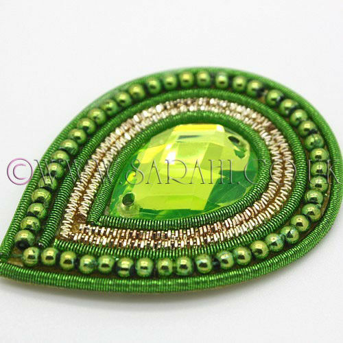 LIME TEAR DROP MOTIF,CRAFT beads,sew trimming,trim,sequin,bead,EMBELLISHMENT