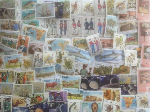 150 Different South Africa Stamp Collection Ciskei