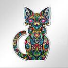 funny car bumper sticker colourful cat kitten sitting 94 x 133 mm vinyl decal