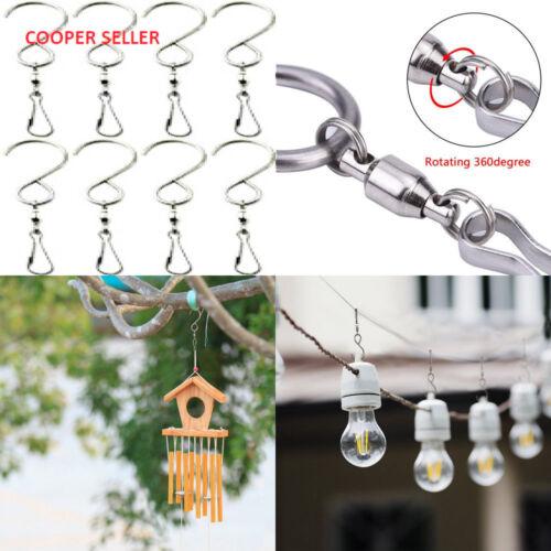 10PCS Swivel Hooks Creative Aeolian Bell Clips Hanging Wind Spinners