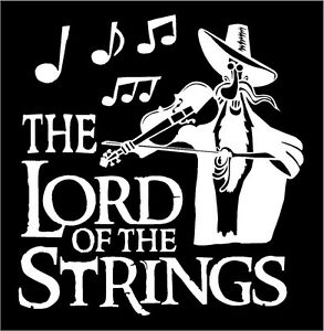 Violon Fiddle Band Music Concert Graphique Décalque Autocollant Voiture Vinyle
