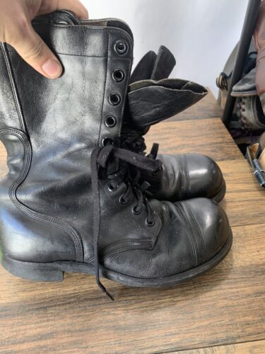 VTG BF Goodrich Combat Military Boots Zipper Mens