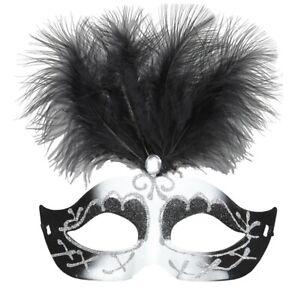 Black-amp-White-Venice-Eyemask-With-Glitter-Gem-amp-Feathers-Mask-Whitney-Beauty